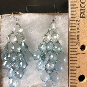Jewelry - Crystal dangle earrings.